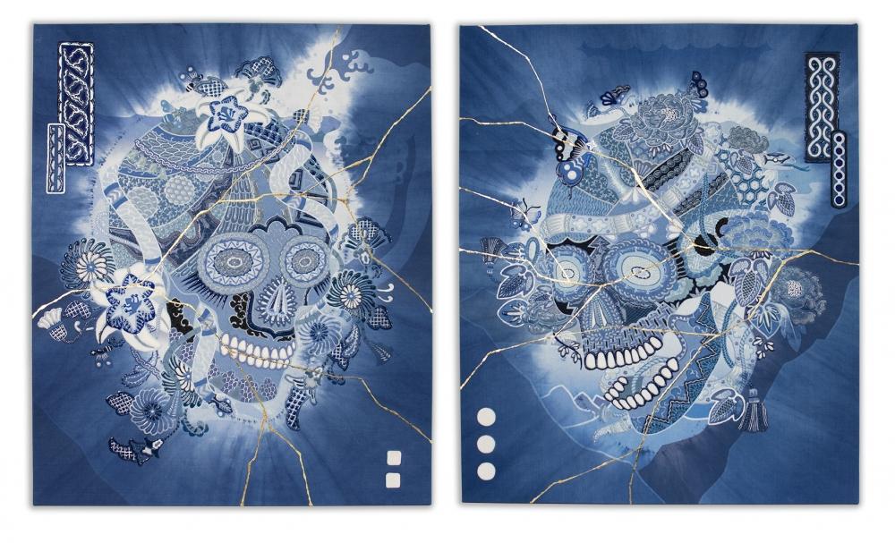 exid952wid908 / Skull - UN / Skull - A   -japan blue- #2