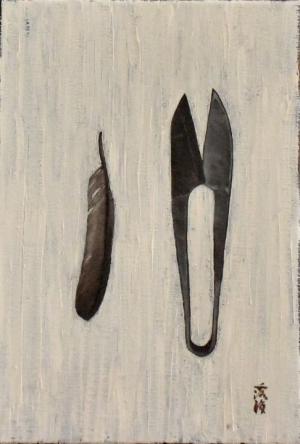 exid939wid895 / 糸切鋏、雀の羽