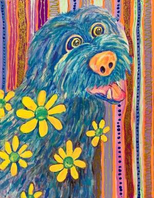 exid578wid553 / The dog is speaking