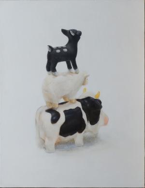 exid15348wid12140 / 玩具の牛と羊と鹿