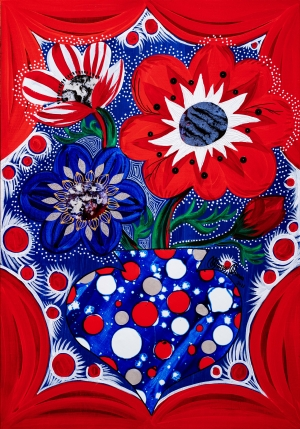 exid37358wid35715 / Red Dot Anemone with Flower vase vol.2