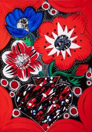 exid39109wid36922 / Anemone with Flower vase Wonderland