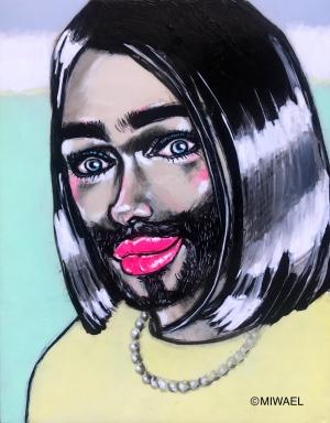 exid36303wid34660 / Self portrait with beard (髭の自画像)